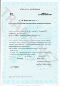 Licencja na międzynarodowy przewóz osób